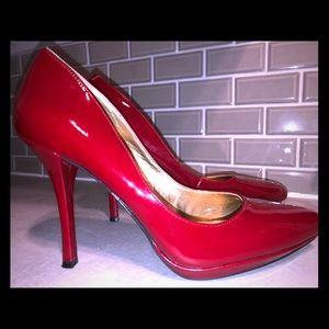 BCBGegeration Red Patent Leather stilettos